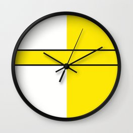 Team colors 6....Yellow,white Wall Clock