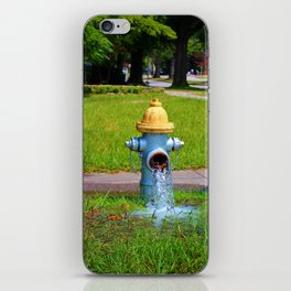 Fire Hydrant Gushing Water iPhone Skin