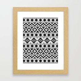 Aztec Essence Ptn III Black on White Framed Art Print