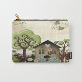 Bonnie Memories Whimsical Folk Art Carry-All Pouch