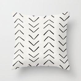 Mud Cloth Big Arrows in Cream Throw Pillow