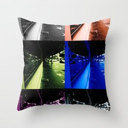 Reflections of faded glamour Throw Pillow