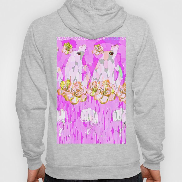 PINK ROSES AND GIRLS Hoody