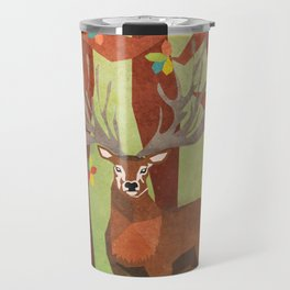 Majestic Stag in Forest Travel Mug