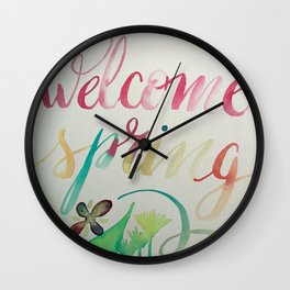 Welcome spring Wall Clock