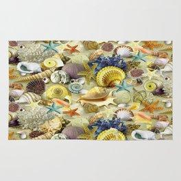 Seashells And Starfish Rug