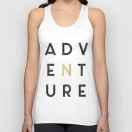 Adventure gold and marble Unisex Tank Top