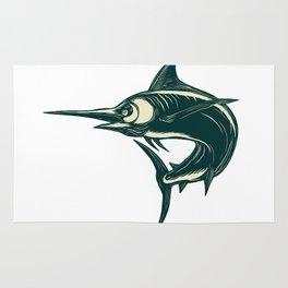 Atlantic Blue Marlin Scraperboard Rug
