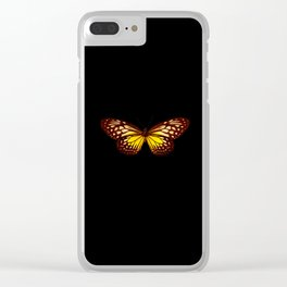 Butterfly - Yellow Brown & Black - Back Lit Glow Clear iPhone Case