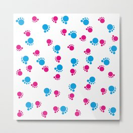 Baby Footsteps background #society6 #decor #buyart #artprint Metal Print