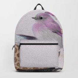 Bird in tea cup Backpack