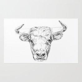 Bull illustration Rug