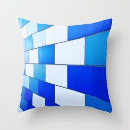 Blue Monday Throw Pillow