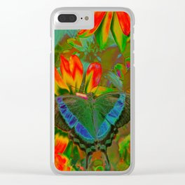 Extreme Emerald Swallowtail Butterfly Clear iPhone Case