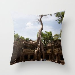 Ancient trees and Ancient Stories Throw Pillow