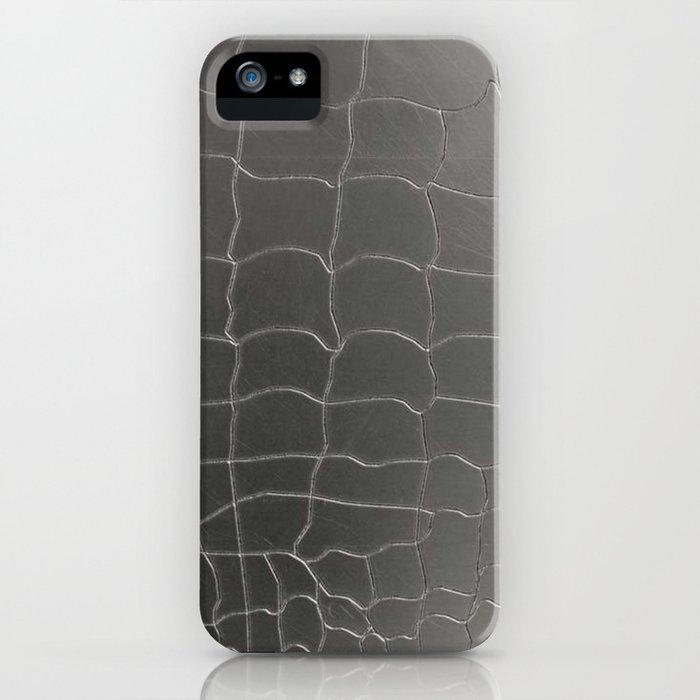 Crocodile silver skin iPhone Case