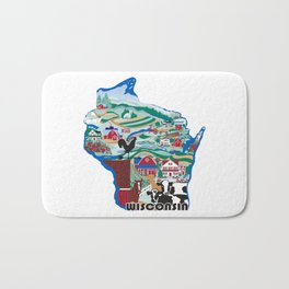 Wisconsin Country Sampler Bath Mat
