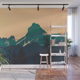 Cascade Mountains Sunset Wall Mural