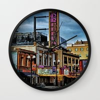 theater Wall Clocks featuring Orpheum Theater by gypsykissphotography