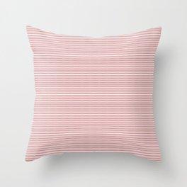 Decorative Pink White Fine Lines Design Throw Pillow
