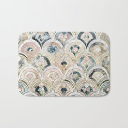Art Deco Marble Tiles in Soft Pastels Bath Mat