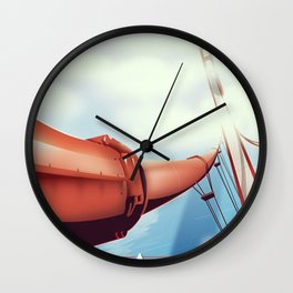 """Los Angeles """"City of Angels"""" Travel poster Wall Clock"""