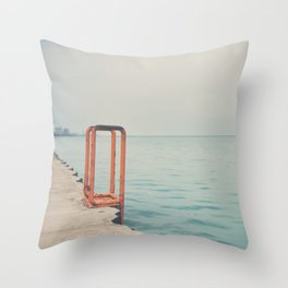 the orange steps ... Throw Pillow