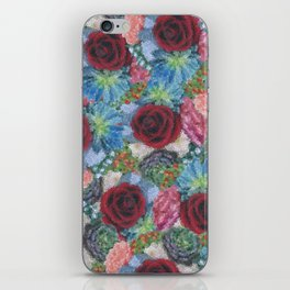 Garden Bouquet  through Stained Glass iPhone Skin