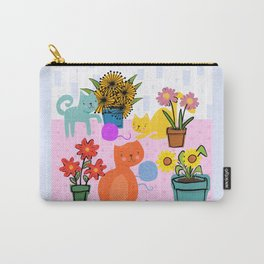 Three Curious Cats Carry-All Pouch