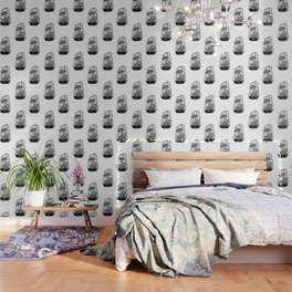 Terrarium Block Print Wallpaper