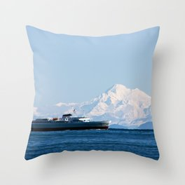 Coho and the mountain Throw Pillow