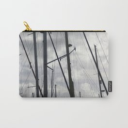 Yacht masts on cloudy sky Carry-All Pouch
