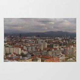 Over The Rooftops of Ljubljana Rug