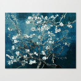 Van Gogh Almond Blossoms : Dark Teal Canvas Print