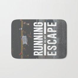 Running Is My Escape Bath Mat