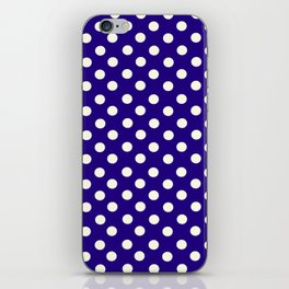 Polka Dot Party in Blue and White iPhone Skin