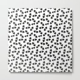 Skateboard pattern black white Metal Print