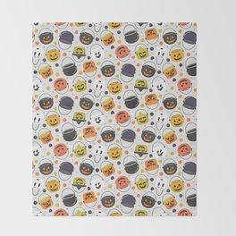 Halloween Candy Buckets Throw Blanket