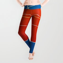 The Court in Red and Blue (Color) Leggings