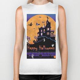 Halloween Haunted House Biker Tank