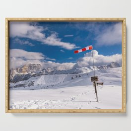 Windsock in the alps Serving Tray