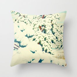 A Morning in the Snow Throw Pillow