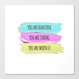 Self Worth Love Canvas Print