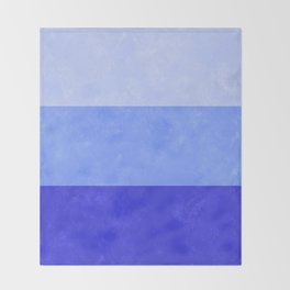 Blue Grunge Stripes Throw Blanket