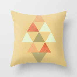 Being Mindful, Geometric Triangles Throw Pillow