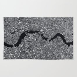 London map black and white Rug
