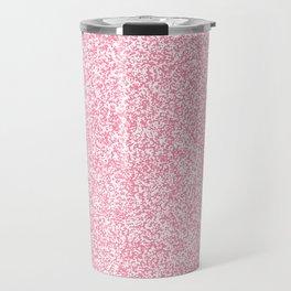 Spacey Melange - White and Flamingo Pink Travel Mug