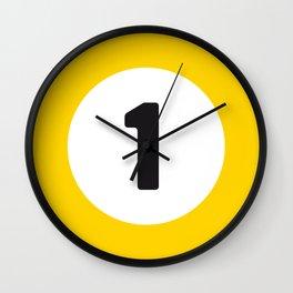 Ball 1 Billiard Wall Clock