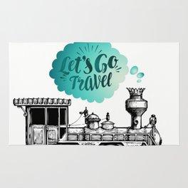 Let's Go Travel Rug