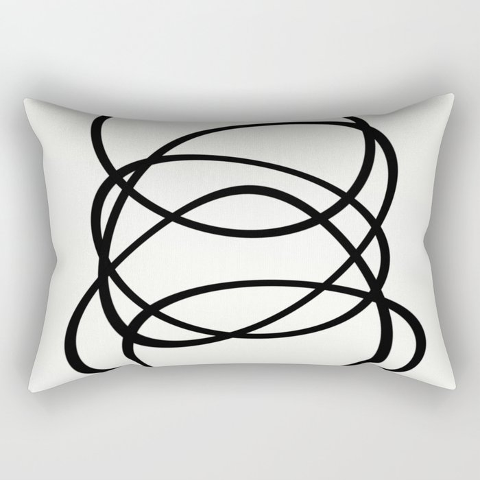 Come Together - Black and white, minimalistic, abstract, art print Rectangular Pillow